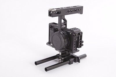 $ CDN304.01 • Buy Gondor Cage For Sony A6300/6500 With Top Handle And Base Plate 2 Rod GD-A6-01