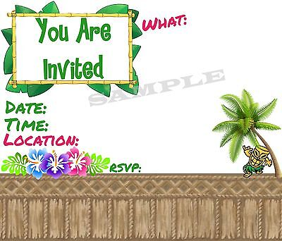 Luau Party Invitations With Matching Envelopes, Tiki, Hawaiian, 12pack • 10.61£