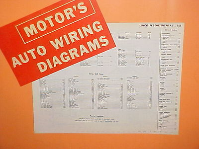 $24.99 • Buy 1961 1962 1963 1964 1965 Lincoln Continental Convertible Sedan Wiring Diagrams