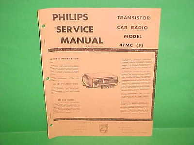 $19.99 • Buy 1964 Lincoln Continental Convertible Sedan Philips Am Radio Service Shop Manual