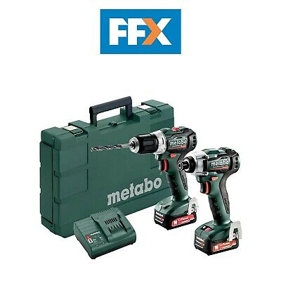 Metabo 685168000 12v 2x2.0Ah PowerMaxx Brushless Drill/Impact Driver Twin Kit In • 172.50£