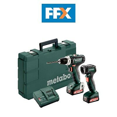 Metabo 601036900 12v 2x2.0Ah Li-ion PowerMaxx Drill/Torch Twin Kit In Case • 130£