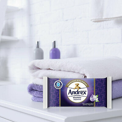 View Details Andrex Washlets Flushable Toilet Tissue Wipes 12/24 Packs Of 40 Wipes • 14.99£