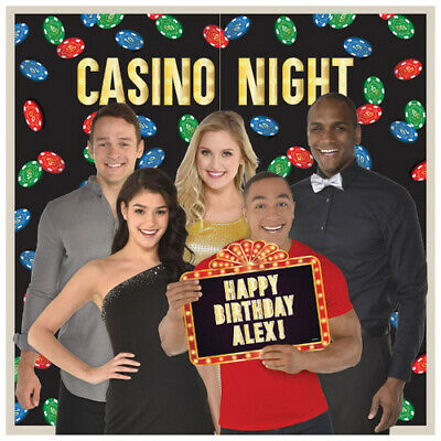 $11.99 • Buy CASINO NIGHT SCENE SETTER W/ PHOTO PROPS (7pc) ~ Birthday Party Supplies Poster