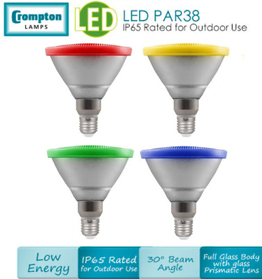 13W LED Coloured PAR38 ES E27 Colour Spot Light Bulb FREE P&P UK STOCK • 20.99£