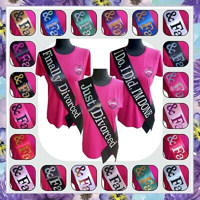 Divorce Sash - Divorce Party Celebration Decorations Gift - Black Red Pink Blue • 5.99£