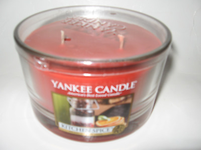 Yankee Candle KITCHEN SPICE 3 Wick 17oz Round Dish Candle NEW 40-50hr Burn Time • 26.32£