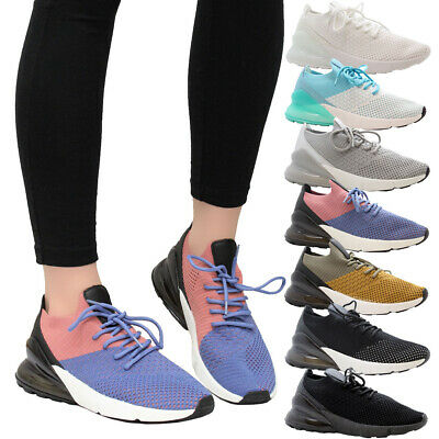 Ladies Women Gym Fitness Air Shock Absorbing Sneaker Running Trainers Shoes Size • 14.99£