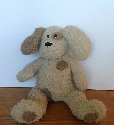 MAMAS & PAPAS Beige Brown Puppy Dog Soft Plush Comforter Toy 15  Tall • 19.99£