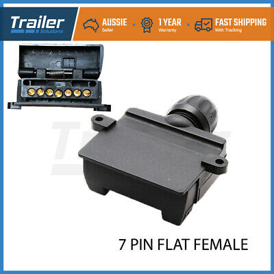 AU11 • Buy 7 Pin Flat Female Trailer Light Plug Connector Socket Caravan Car Truck Adapter