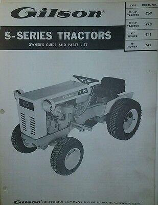 AU102.80 • Buy Gilson Ward Lawn Garden Tractor & Implements Owner & Parts (2 Manual S) Squire