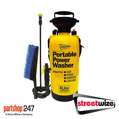 £20.10 • Buy Streetwize Portable 8 Litre Car Home Garden Hand Portable Power Jet Wash Washer