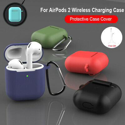 $ CDN4.31 • Buy For Apple AirPods 2 Wireless Charger Protective Silicone Case Accessories Cover