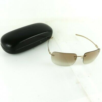 b7f46ec399 Auth GUCCI Sunglasses Rimless Frameless Gold Gradient Brown With Case •  110.00
