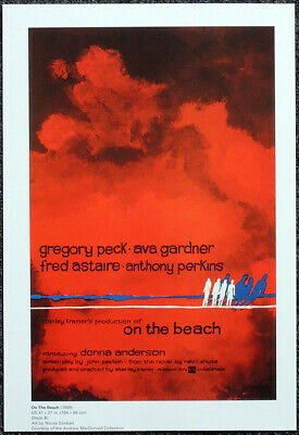 On The Beach 1959 Film Movie Poster Page . Gregory Peck Ava Gardner . F21 • 5.99£