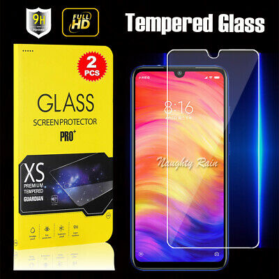 AU6.99 • Buy 2 Pcs 9H Tempered Glass Screen Protector Film For Xiaomi Redmi Note 7 Note 7 Pro
