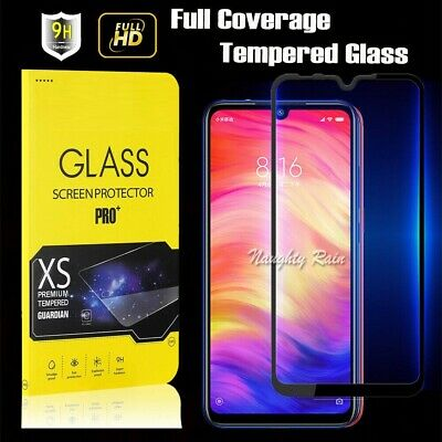 AU4.99 • Buy Full Cover Tempered Glass Screen Protector For Xiaomi Redmi Note 7 Note 7 Pro