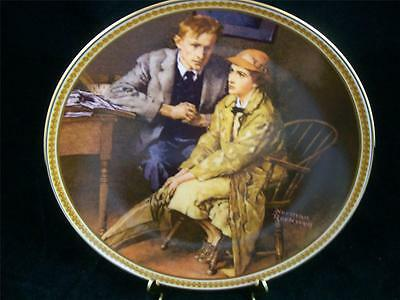 $ CDN6.38 • Buy Edwin Knowles Norman Rockwell Confiding In The Den LTD Edition China Plate EUC
