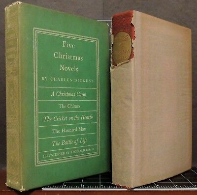 $67.95 • Buy Charles Dickens FIVE CHRISTMAS NOVELS 1939 Heritage Club Illist. HC Color Plates