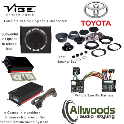 Vibe Optisound Micro Amps + Speaker Set + Sub + Plug&Play Harness Toyota Avensis • 449.99£