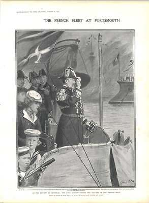 1905 French Fleet Portsmouth Review Spit Head • 9£