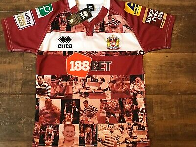 2016 Wigan Warriors BNWT New Hall Of Fame Rugby League Shirt Small Jersey • 49.99£