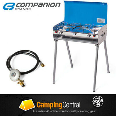 AU139.95 • Buy Companion Rv 2 Burner Bbq With Legs Stove Cooker Gas Camping Grill Comp546