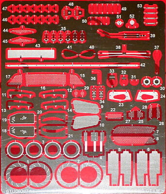 STUDIO 27 1/24 FORD GT LE MANS LM 2017 PHOTO-ETCH DETAIL SET For REVELL  • 42$