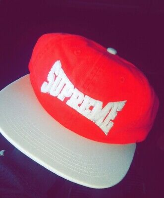 $ CDN60 • Buy Supreme®Chenille Logo 6-Panel - Red Deadstock. (Comes With 2 Real Stickers)
