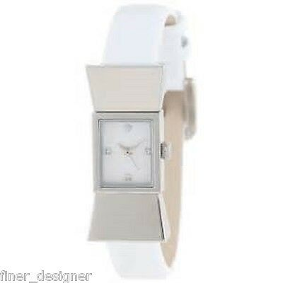 $ CDN131.68 • Buy KATE SPADE NEW YORK NY Watch White Patent Leather Carlyle Strap Silver NIB $175