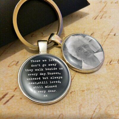 £6.38 • Buy Personalized Photo Keyring Bereavement Presents Lost Loved Memorial Gifts