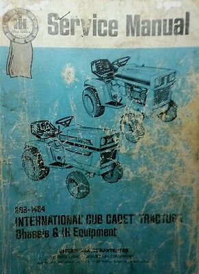 AU132.53 • Buy IH International Cub Cadet Tractor GSS-1464 Service Manual Chassis & Implements