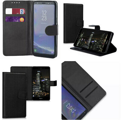 $ CDN3.26 • Buy For Samsung Galaxy S8 Plus Black Book Pouch Case Wallet PU Leather+Card Slot S8+