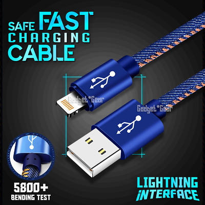 AU5.49 • Buy 1M 2M 3M USB Lightning Charger Cable Cord Data For Apple IPhone IPad IPod Air 3