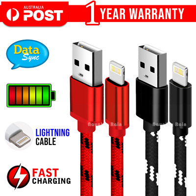 AU6.99 • Buy USB Charging Charger Cable Cord Data For Apple IPhone 12 11 Pro Max XR IPad IPod