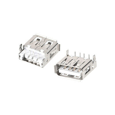 $7.51 • Buy 50PCS USB 2.0 Type A Female Socket Connector Port 4-Pin DIP 90 Degree Adapter