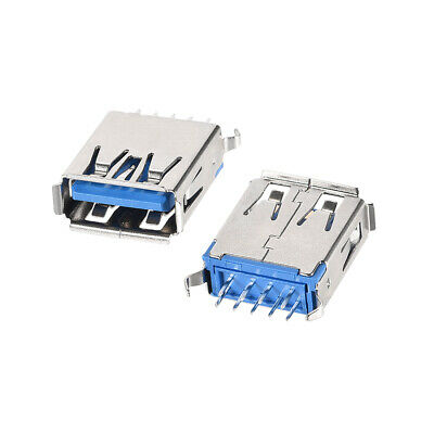 $11.42 • Buy 50PCS USB 3.0 Type A Female Socket Connector Port 9-Pin DIP 180 Degree Adapter