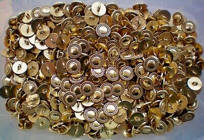 $4.86 • Buy Small 15mm 24L Gold Metal Rope Twist Shank Costume Craft Button Buttons (MB104)