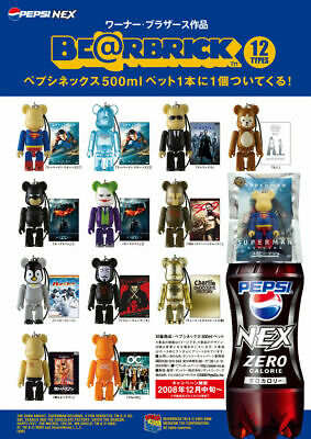 $59 • Buy Bearbrick X Warner Brothers X Pepsi 12pcs Complete Set Figure Strap New