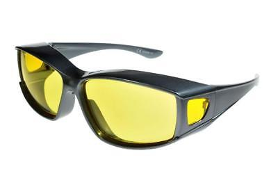 Fit Over-Glasses Medio Shatterproof Sunglasses With Yellow Lenses Medium Size • 14.99£