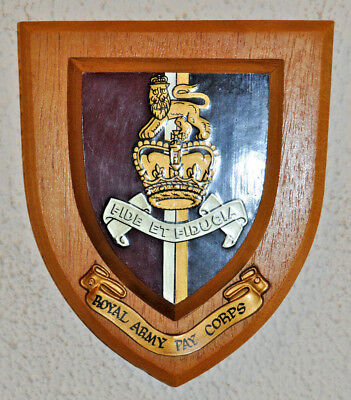 Royal Army Pay Corps Regimental Mess Wall Plaque RAPC • 20£