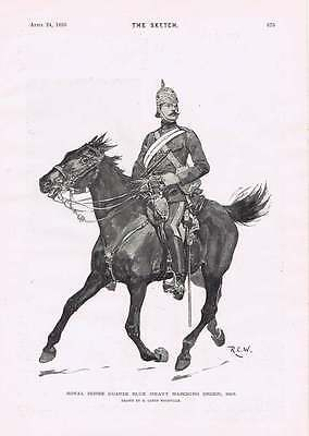 1895 R Caton Woodville Royal Horseguards Blue Heavy Marching Order 1895 • 9£