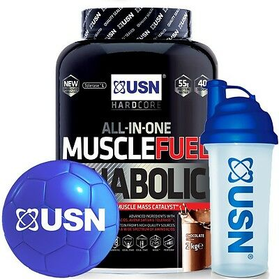 USN Muscle Fuel Anabolic Muscle Mass Catalyst 2kg With USN MINI BALL & SHAKER! • 35.99£