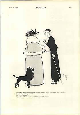 1895 They May Not Be Good But Clever Poodle Phil May Cartoon • 9£