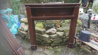 Huge Antique Reclaimed Mahogany Fire Surround.  • 125£