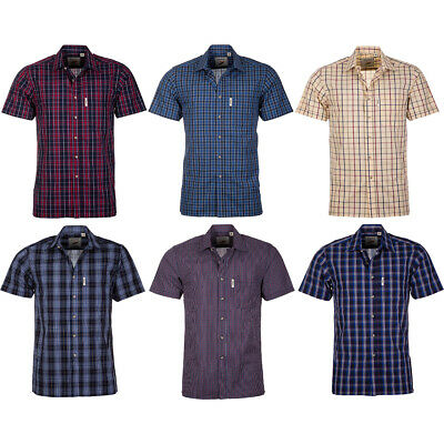 £15.99 • Buy Mens Short Sleeve Shirt Country Checked Check Rydale Gent's Casual Work Wear Top