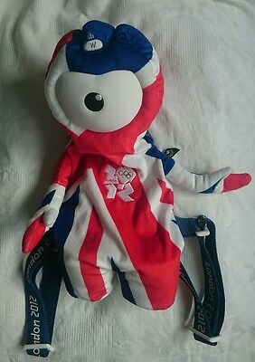 £9.99 • Buy Official Product London 2012 Mascot Wenlock Union Jack Soft Toy Rucksack Bag BN