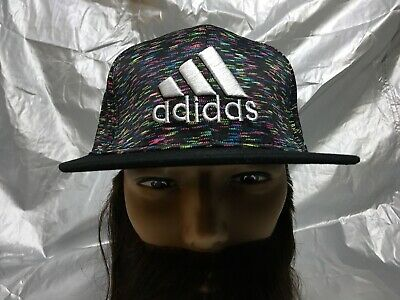 designer fashion bd335 6bd17 Adidas Originals Trefoil Snapback Embroidered Flat Brim Baseball Cap Hat  Lid New • 12.99