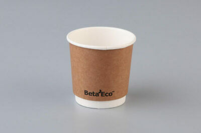AU4.29 • Buy Eco Smooth Double Wall Kraft Brown Coffee Cup 4oz. (118ml) Pk 25