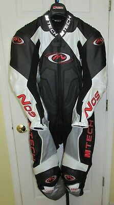 $449 • Buy 1pc 1-pc 1 Piece Motorcycle  Leather Suit, M-Tech Italy - Size US 44, EUR 54